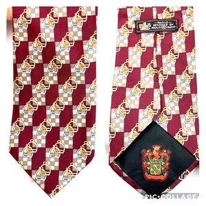 """Paolo Gucci silk equestrian checkered tie 3.75x58"""""""